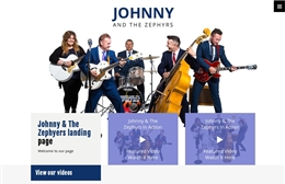 Johnny & The Zephyrs - Bang website design by Toolkit Websites, Southampton