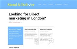 Web design case study for Stand and Deliver London