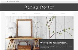Pansy Potter - website design by Toolkit Websites, Southampton
