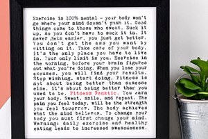Wise words on Fitness