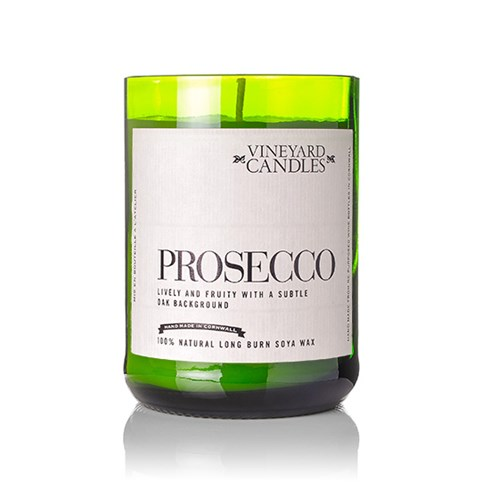 Prosecco Candle Luxury natural soya wax candle in a re-purposed wine bottle Sparkling white grapes with hints of grapefruit, rose and subtle fruits Presentation packaging 80 hour burn time                              £19-50  <iframe frameborder='no' scrolling='no' src='http://www.pansypotter.co.uk/pp/1454'  width='140px'  height='40px' ></iframe>