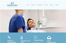 Christchurch Dental - Dentist website design by Toolkit Websites, Southampton