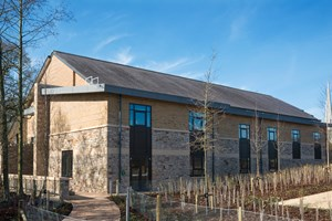 Chorley Stakes: The roof was composite panels.  The gutters were formed and made out of timber battens and plywood, and we fitted the Soffit panels and Rainwater Pipes (RWP)