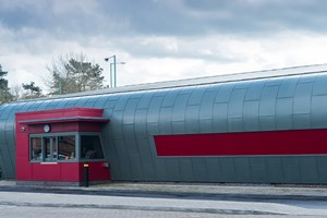 Costa Coffee Shirley: We built up the shape of the building ready for the hard metal team.  We also fitted the Composite panels to the Drive Thru hatch, roof area and to the gable end of the building, which was a mix of Composite Panels and Therma Wood.