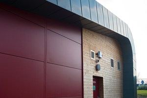Costa Coffee Shirley: Composite Panels and Therma Wood, (Cedar Cladding)