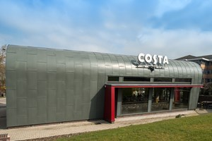 Costa Coffee Shirley: Hard Metals & Composite Panels