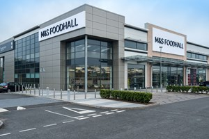 M&S Food Hall, Warwickshire Shopping Park, (Alucobond Cladding Panels).