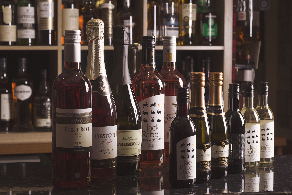 A selection of wines