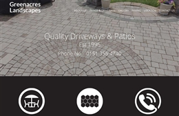 Greenacres landscapes - 1-page website design by Toolkit Websites, expert web designers uk