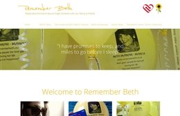 Remember Beth - Charity web design by Toolkit Websites, professional web designers