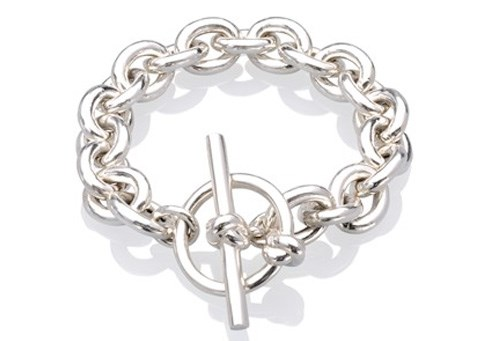 4a467eaad1d0f9 Chunky Sterling Silver Bracelet with Large Toggle : MMzS Jewellery ...
