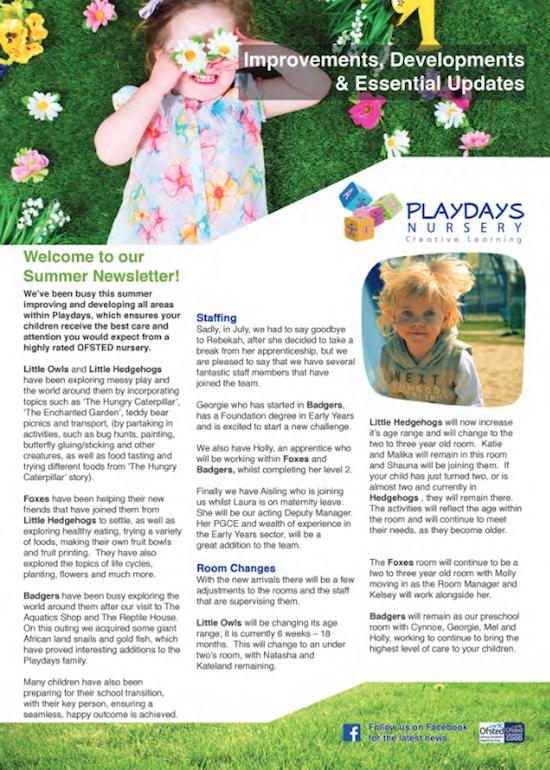 Term Time Newsletter for Nursery