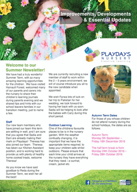 Nursery Newsletters