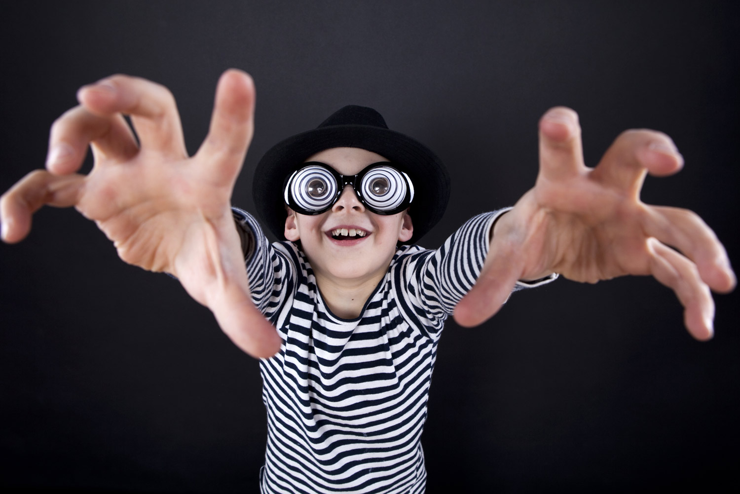 kids photo booth hire boy with glasses