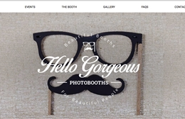 Hello Gorgeous Photobooths - Photo booth website design by Toolkit Websites, professional web designers