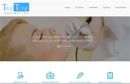 Cosmetic Surgeon website design by Toolkit Websites, Southampton