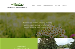 Newfields - Gardening website design by Toolkit Websites, Southampton