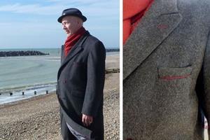 Gentleman's, bespoke, made to measure, tailored coat.