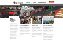 Forest Industrial - website design by Toolkit Websites, Southampton