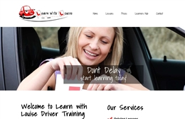 Learn With Louise - Driving training website design by Toolkit Websites, Southampton
