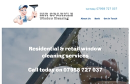 Mr Sparkle - Window cleaning website design by Toolkit Websites, Southampton