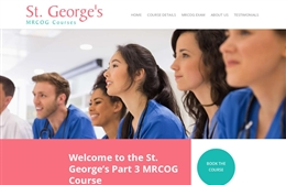 Medical training website design by Toolkit Websites, Southampton