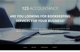 123 Accountancy - website design by Toolkit Websites, professional web designers