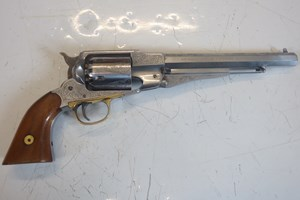 L3186 Euro Arms Revolver •Reproduction .44 New Model Army steel muzzle loading revolver by Euro arms •In good condition and little used £300     Please note that a firearms licence is required for this item  Collection by appointment or dispatch to UK Mainland Registered Firearms Dealer £25