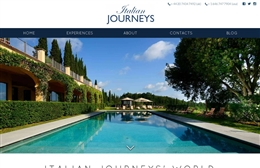 Italian Journeys - Website design by Toolkit Websites, professional web designers