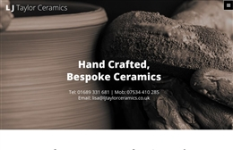 LJ Taylor Ceramics - website design by Toolkit Websites, Southampton
