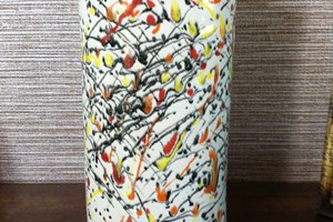 Fluted multi coloured vase £30<br/> <a class='button' target='blank' href=https://www.paypal.com/cgi-bin/webscr?cmd=_s-xclick&hosted_button_id=GR8Z6FWP73NDW'>Buy now</a>
