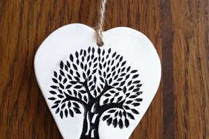 Oak tree hanging decoration £3<br/>