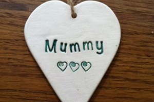 Heart Hanging Decoration in Green £3