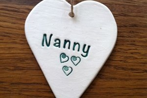Heart Hanging Decoration in Green £3<br/>