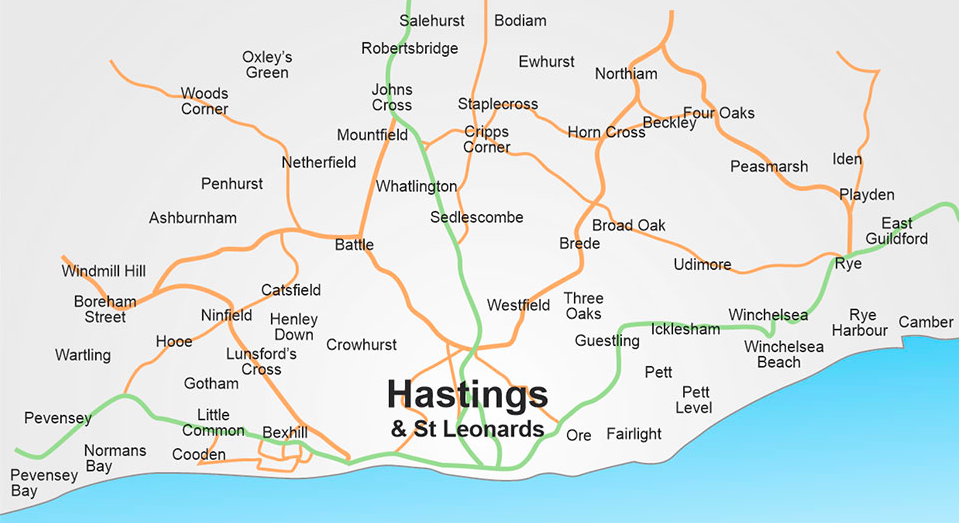 Your Local Areas for Selling and Renting in Sussex & Kent