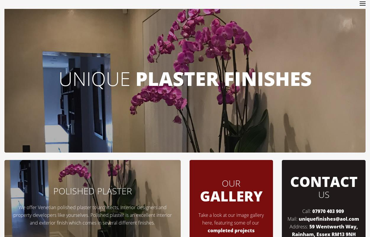 Welcome To Unique Plaster Finishes : Unique Plaster Finishes