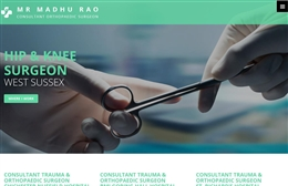 Madhu Rao, Consultant Orthopaedic Surgeon - web design by Toolkit Websites, Southampton
