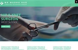Madhu Rao, Consultant Orthopaedic Surgeon - web design by Toolkit Websites, professional web designers
