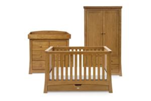 <h2>Canterbury<br/></h2><p><span>Description:</span><br/>Cot Bed, Double Wardrobe, Dresser</p><p><span>Colours:</span><br/>Oak</p><p><span>Price:</span><br/>Cot Bed (£696) Double Wardrobe (£800) Dresser (£700)</p>