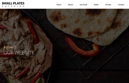 Small Plates - 1-page website design by Toolkit Websites, Southampton