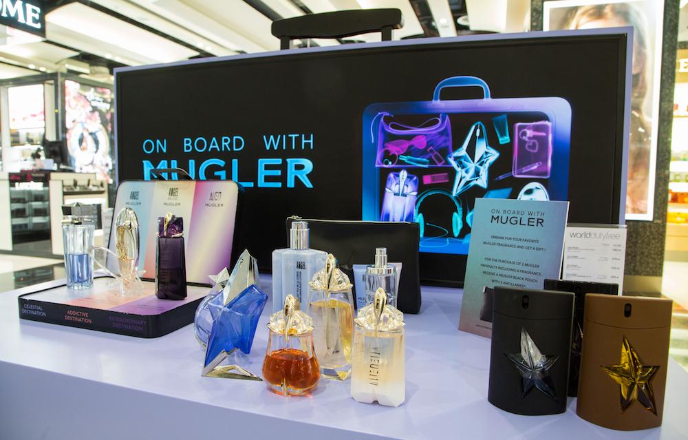 Mugler Perfume Display Airport