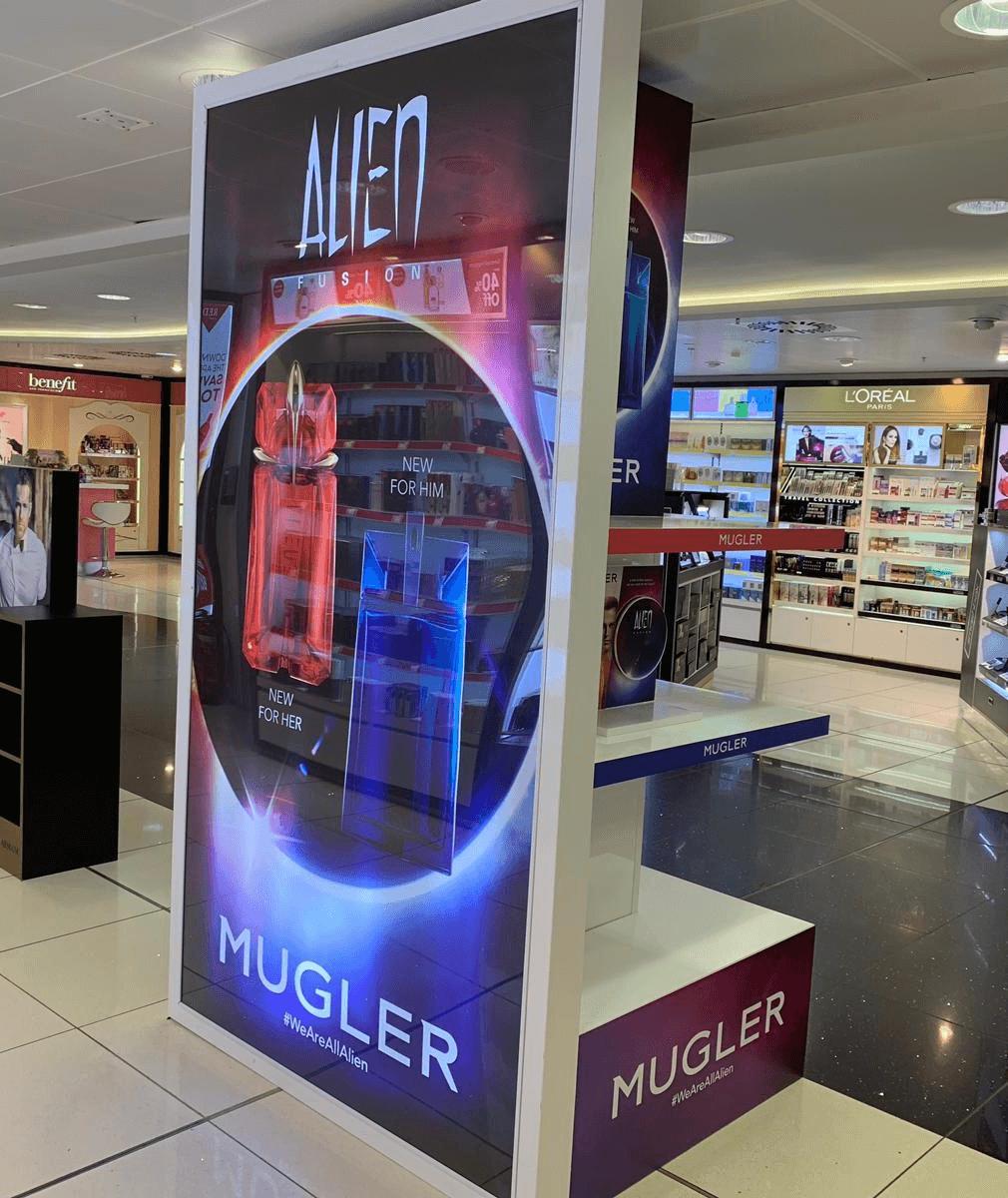 Mugler Alien Fusion Perfume Display