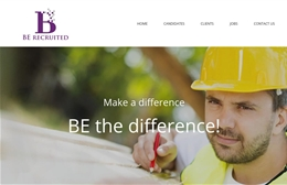 Be Recruited Ltd - Recruitment website design by Toolkit Websites, Southampton