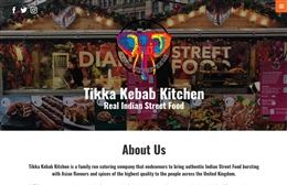 Tikka Kebab Kitchen - Catering website design by Toolkit Websites, Southampton