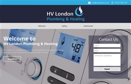 HV London website design case study