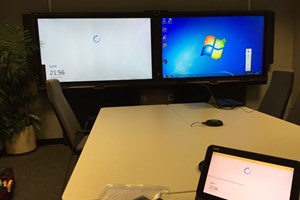 70' Dual Screen Smart SRS Lync Solution Installed For A Government Facility.