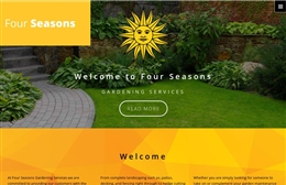 Four Seasons - Landscaping web design by Toolkit Websites, professional web designers