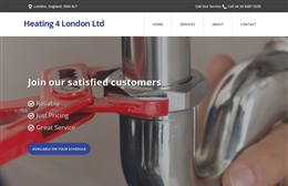 Web Design Case study for Heating 4 London Ltd
