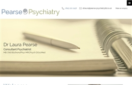Pearse Psychiatry Ltd - Psychiatry website design by Toolkit Websites, Southampton
