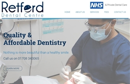 Retford Dental Centre - Dentist website design by Toolkit Websites, Southampton